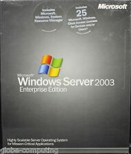 Retail Microsoft Windows Server 2003 x86 Enterprise Edition 25 CAL P72-00001