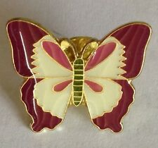 Purple Pink Butterfly Pin Badge Rare Insect Collectable (G1)
