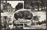Hampshire New Forest. Lyndhurst. Vintage 5 Image Multi-View Real Photo Postcard