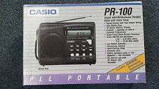 CASIO Digital AM/FM Shortwave Portable Radio with Clock Timer,PR-100,Battery pow