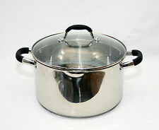 20cm Strain & Pour Stainless Steel Cookware Saucepan Pot With Lid Induction Pan