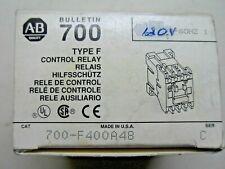 (H12)1 Nib Allen Bradley 700-F400A48 48V Type F Control Relay