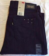 LEVI'S 505 Straight Leg Jeans - Women's 10 Medium  (purple) NWT $54