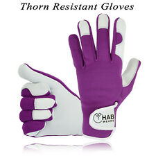 Ladies Leather Gardening Gloves Mechanic Builder Thorn Proof Garden work gloves