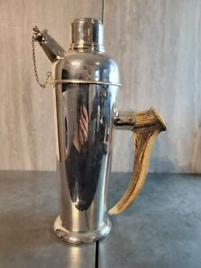R.H.V.&Co. E.P.N.S. Cocktail Shaker with antler handle