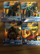 GODZILLA VS KING KONG SKULLCRAWLER Monsterverse 4 Toy Set Playmates 2020 NEW