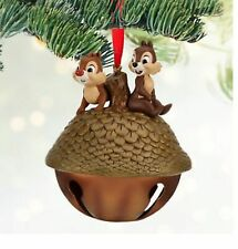 DISNEY STORE CHIP N DALE ON A BELL SKETCHBOOK ORNAMENT 2013 RARE NEW WITH TAGS