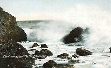 Surf Scene Portland Head Light Maine Postcard 1907 UDB Leighton