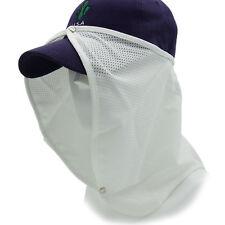 Long Neck Flap Cap Mash Hat Summer Hat Sun Shade Neck UV Protection Golf White