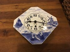 Vtg Newark Clock Co Blue Delft 8 Day Clock - Parts/Repair