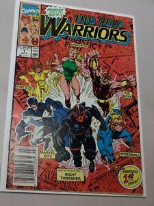 New Warriors #1 1990 MCU 1st Appearance in own title Namorita Speedball Etc