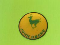 "Vintage 1950's John Deere Vari-Vue Hologram 3"" Pin Pinback Running Deer USA MADE"