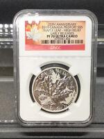 2013 Canada Piedfort S$5 Maple Leaf NGC PF 70 Ultra Cameo