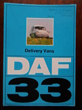 DAF 33 Delivery Vans orig 1972 UK Market sales brochure