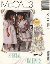1990's VTG McCall's  Children's Dress,Pinafore&Petticoat Pattern 5103 Size 3