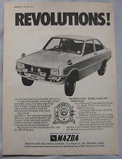1971 Mazda R100 Coupe Original advert