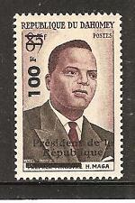 Dahomey # 149 Mnh 1St Anniversary Of Independence. President H. Maga