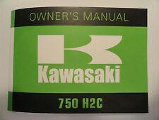 1975 Kawasaki 750 H2C Rider's Handbook Owner's Manual H2 C Riders Owners Shop