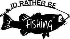 Id Rather Be Fishing Bass- Metal Fishing Sign - Man Cave - Lake House Cabin