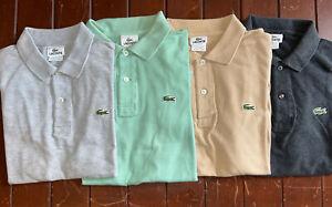 Lot of 4 Lacoste Short Sleeve Polo Size 4 Medium