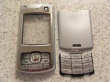 MOBILE PHONE FASCIA HOUSING COVER & KEYPADS FOR NOKIA N80 -  SILVER DESIGN