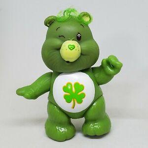 Vintage Care Bears Poseable Figure Good Luck Bear 1983 Kenner Clover Shamrock