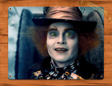 "TIN SIGN ""Mad Hatter Depp"" Disney Alice Movie Johnny Wall Poster"