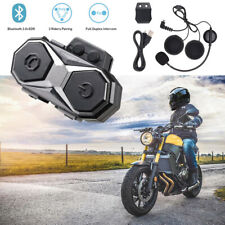 Motorcycle Bluetooth Helmet Intercom FM Radio Headset 3.0+EDR 1000m 3 Riders