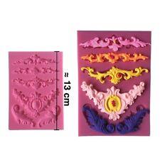 Moule silicone 3D Moulure 2 pour pâte à sucre, cake design, décoration