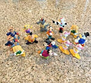 Vtg 1991 Disney Miniature Characters 16 Pcs Kelloggs Plastic Mickey Donald Mixed