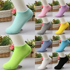 10Pairs/Pack Women Low Cut Cotton Socks Fashion Boat Ankle Socks Mixed Color UK