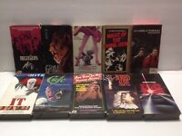 HTF VHS HORROR LOT OF 10 Tested & Work RARE Munchies, Grim, Buried Alive & More!