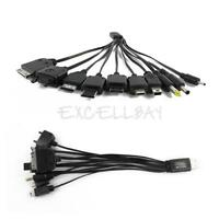 10 in 1 Universal Multi USB Charger Cable for Mobile Phone iPhone LG PSP MP3 PDA