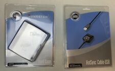 Palm Tungsten E Handheld Pda Case Hotsync Cable Usb Lot Of 2 New In Package