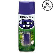 6-Pack Rust-Oleum 12 oz. Purple Outdoor Spray Paint No Hunting No Trespassing