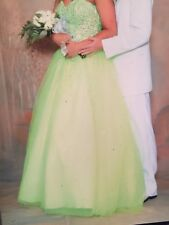 Size 10 Lime Green Morilee princess full length prom dress worn once