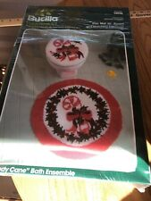 New listing Vintage Bucilla Latch Hook Holiday toilet seat cover and rug