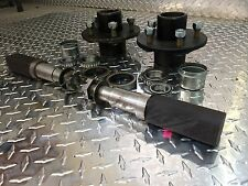 """TRAILER AXLE KIT - 3.5K, 3500 lb, Idler, 5 on 4.5"""",SQUARE Spindles Build An Axle"""