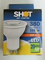 Lampadina LED SHOT 4,5W 50Hz GU10 fascio 90° SLD630532B 240V luce calda nuovo