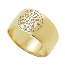 Silver 925 Gold Plated Ring w/ Love Seal Amulet King Solomon Jerusalem 6-13 size