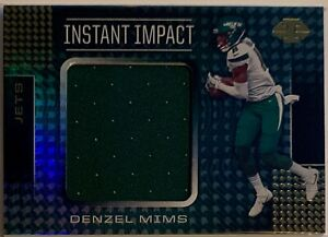 DENZEL MIMS (JETS) 2020 PANINI ILLUSIONS INSTANT IMPACT JERSEY [ROOKIE]