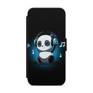 CUTE PANDA CARTOON WALLET FLIP PHONE CASE COVER FOR IPHONE SAMSUNG HUAWEI    s32