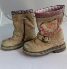 OILILY Girls size 7 (24) tan leather boots