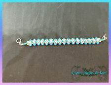 Braccialetto Lyra - opale blu e rosa , madreperla e argento 925