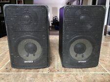 New listing Pair (2) Optimus Pro 7 Die Cast Indoor Outdoor Speakers 40-2066 Black Tested