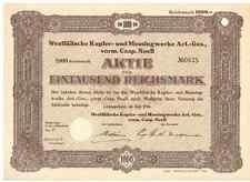 Westfälische Kupfer Messingwerke vorm. Casp. Noell  Lüdenscheid 1936