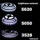 5M 300LED SMD 5050/3528/5630 RGB/White Waterproof Flexible Strip Light Lamp Tape