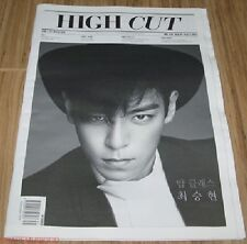 HIGH CUT VOL.132 VOL 132 BIGBANT T.O.P TOP JAY PARK KOREA MAGAZINE TABLOID NEW