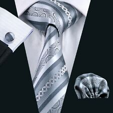 C-589  New Style Men's 100% Silk Neckties Tie+Hanky+Cufflinks Sets Free Shipping