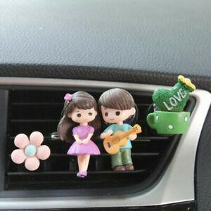 Car Freshener Perfume Lovely Couple Girl Boy Air Vent Clip Aromas Diffuser Decor